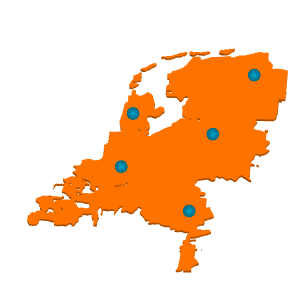 Clients spread over Netherlands